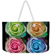 Happy Mothers Day Hugs Kisses And Colorful Rose Spirals Weekender Tote Bag