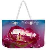 Happy Mother's Day Red Pink White Rose Weekender Tote Bag