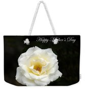 happy Mother's Day White Rose Weekender Tote Bag