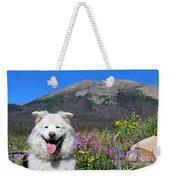 Happy Mountain Dog Weekender Tote Bag
