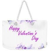 Happy Purple Valentine Weekender Tote Bag