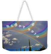 Happy Rainbows Weekender Tote Bag