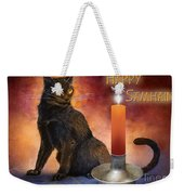 Happy Samhain Kitten And Candle Weekender Tote Bag