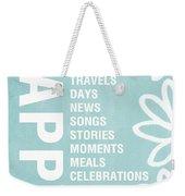 Happy Things Blue Weekender Tote Bag
