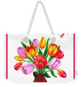 Happy Valentines Tulip Bouquet Weekender Tote Bag