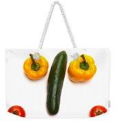 Happy Veggie Face Weekender Tote Bag
