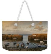 Harbor At Dusk Weekender Tote Bag by Pixel Chimp