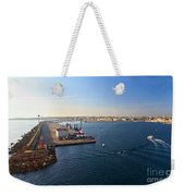 harbor in Porto Torres Weekender Tote Bag