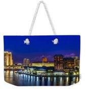 Harbor Island Nightlights Weekender Tote Bag by Marvin Spates