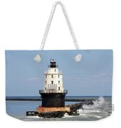 Harbor Of Refuge Light  And Breakwater Weekender Tote Bag