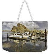 Harbor Reflection Impasto Weekender Tote Bag