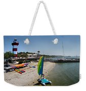 Harbor Town Beach 2 In Hilton Head Weekender Tote Bag