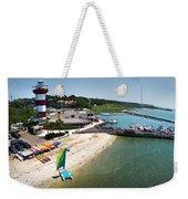 Harbor Town Beach 3 In Hilton Head Weekender Tote Bag
