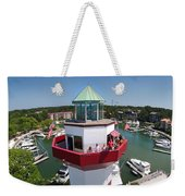 Harbor Town Lighthouse In Hilton Head Weekender Tote Bag