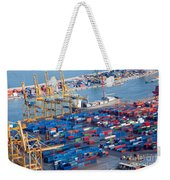 Harbor With Lots Of Cargo Weekender Tote Bag