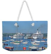 Harbour And Queen's Wharf - Falmouth Weekender Tote Bag