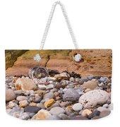 Harbour Seal On Pebble Beach Weekender Tote Bag