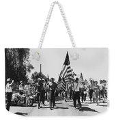 Hard Hat Pro-viet Nam War March Saluting Cops Tucson Arizona 1970 Black And White Weekender Tote Bag
