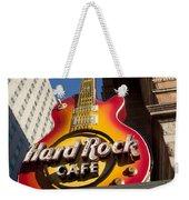 Hard Rock Cafe Guitar Sign In Philadelphia Weekender Tote Bag