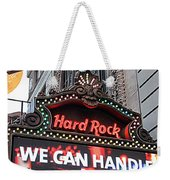 Hard Rock Cafe New York Weekender Tote Bag