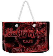 Hard Rock Cafe Nola Weekender Tote Bag