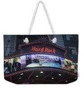 Hard Rock Marquee Nyc Weekender Tote Bag