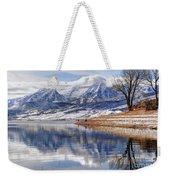 Hardy Fishermen Deer Creek Reservoir And Timpanogos In Winter Weekender Tote Bag