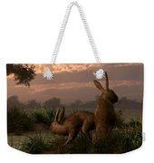 Hares In The Wetlands Weekender Tote Bag