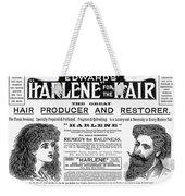 Harlene For The Hair, 1897 Weekender Tote Bag