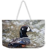 Harlequin Duck In Rapids Weekender Tote Bag