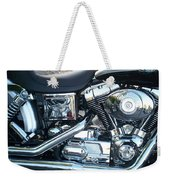 Harley Black And Silver Sideview Weekender Tote Bag