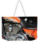 Harley Close-up Orange 1 Weekender Tote Bag