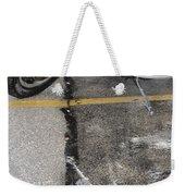 Harley Close-up Rain Reflections Tall Weekender Tote Bag