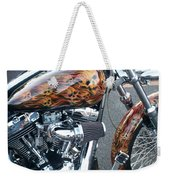 Harley Close-up Skull Flame  Weekender Tote Bag