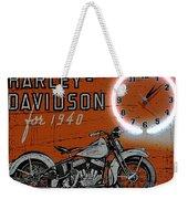 Harley Davidson 1940s Sign Weekender Tote Bag