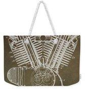 Harley Davidson Engine Weekender Tote Bag by Dan Sproul