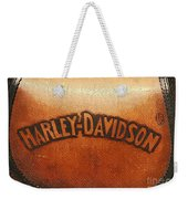 Harley Davidson Leather Tool Bag  Weekender Tote Bag