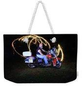 Harley Davidson Light Painting Weekender Tote Bag