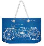 Harley-davidson Motorcycle 1919 Patent Artwork Weekender Tote Bag by Nikki Marie Smith