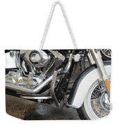 Harley Engine Close-up Rain 1 Weekender Tote Bag