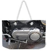 Harley Engine Close-up Yellow Line Weekender Tote Bag