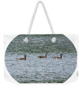 Harmonious Canada Geese Weekender Tote Bag by Will Borden