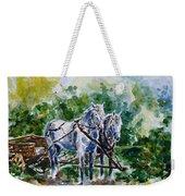 Harnessed Horses Weekender Tote Bag