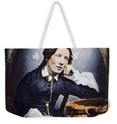Harriet Beecher Stowe (1811-1896). American Abolitionist And Writer. Oil Over A Daguerrotype, C1852 Weekender Tote Bag