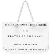 Harrison Timekeeper Weekender Tote Bag