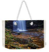 Harrison Wright Falls In Autumn Weekender Tote Bag