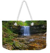 Harrison Wright Falls In Early Fall Weekender Tote Bag