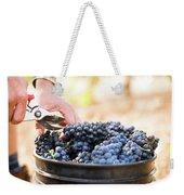 Harvest At Vineyard In Santa Cruz Weekender Tote Bag