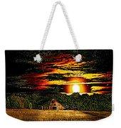 Harvest Moon And Late Barn Weekender Tote Bag
