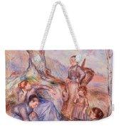 Harvesters Breakfast Weekender Tote Bag by Pierre-Auguste Renoir